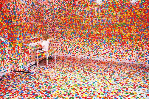 The Obliteration Room - art installation