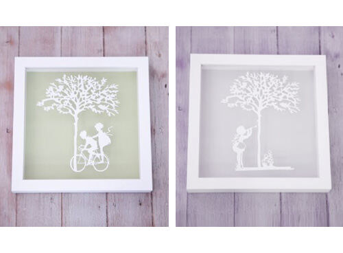 Vintage children paper cut wall art - Vintage antique baby room ideas timeless charm appeal ...