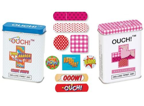 OUCH! superhero and sweetheart kids' bandaids