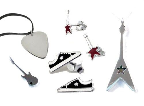 Rock Jewellery - guitar necklaces, sneaker earrings