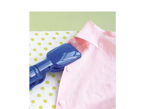 Use a hair straightener to iron clothes