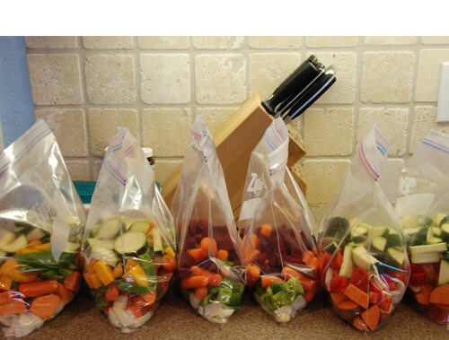 Freeze slow cooker ingredients in bags for easy meals