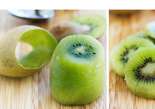 Perfectly peel a kiwi fruit