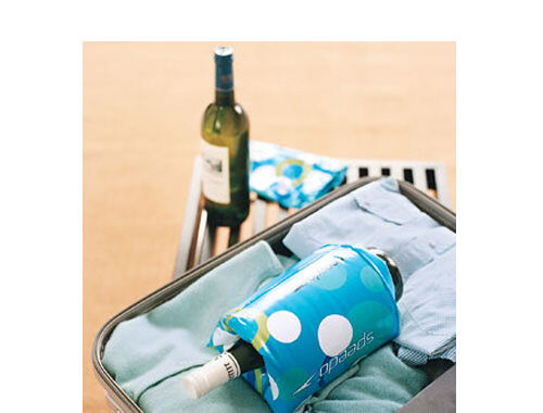Use kids floaties to pack wine bottles