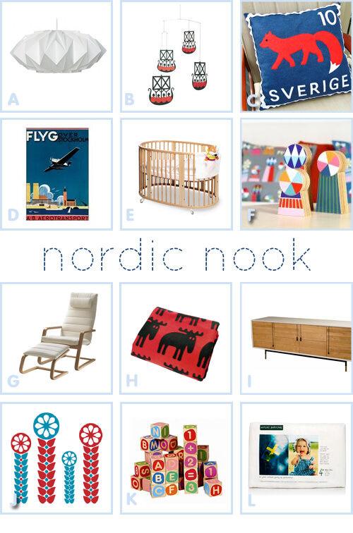 Nordic nook - Scandinavian nursery scheme