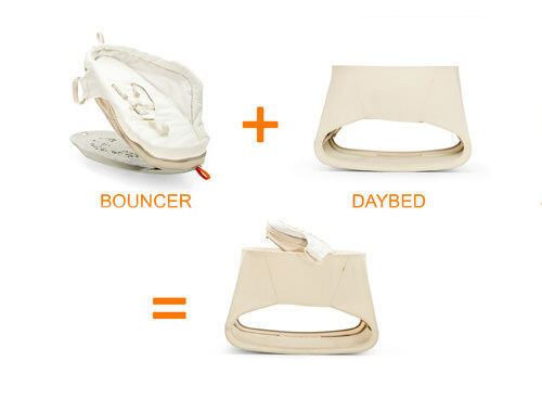 stokke bounce 39 n 39 sleep baby bouncer and daybed. Black Bedroom Furniture Sets. Home Design Ideas