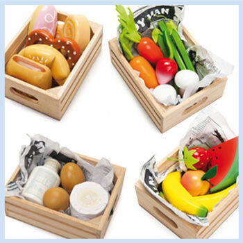 Ley toy van wooden play food sets for Toy van cuisine