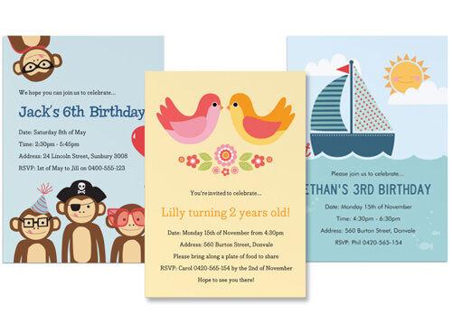 Mooo personalised birthday invitations