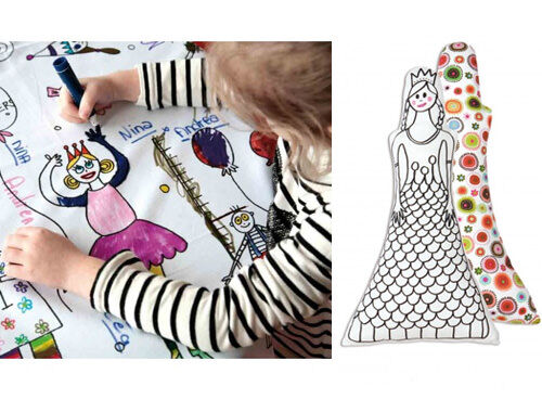 Washable colour-in tablecloths, toys and placemats