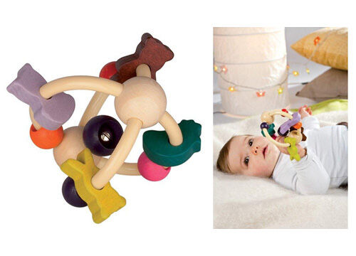 Janod Wooden Baby Rattle