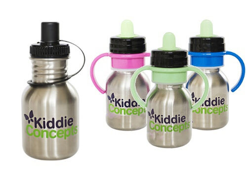 Kiddie Concepts adaptable stainless steel drink bottle