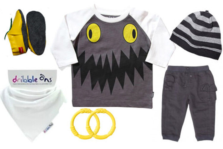 baby outfit monster tee