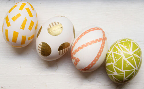Easter crafts - washi tape eggs