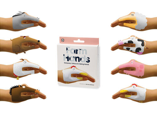 Farm Hands Tatoo Hand Puppets
