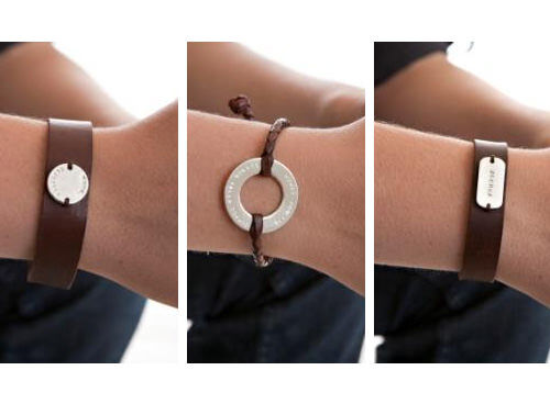 Koolaman Designs hide collection - personalised bracelets
