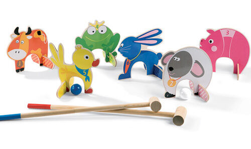 Janod animal croquet set