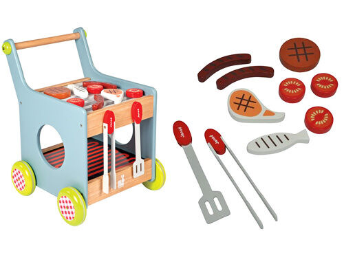 Janod wooden BBQ trolley