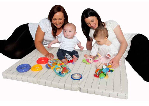 Portable 3-fold play mat