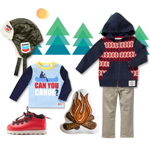 Boy's alpine themed winter outfit