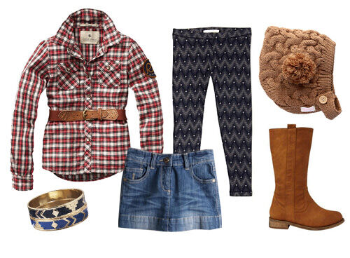 Girls' rodeo inspired outfit