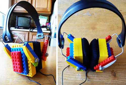 Make LEGO headphones