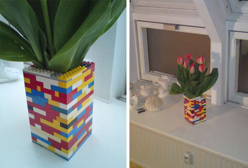 Make a LEGO vase