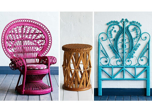 Peacock rattan children's furniture