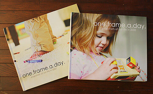 Photobook ideas: one frame a day