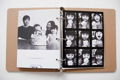 Photo book ideas: ring binder