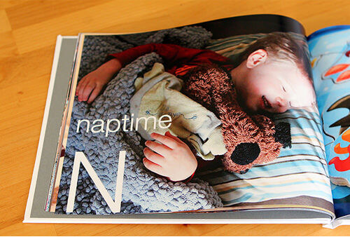 Photobook ideas: personalised alphabet book