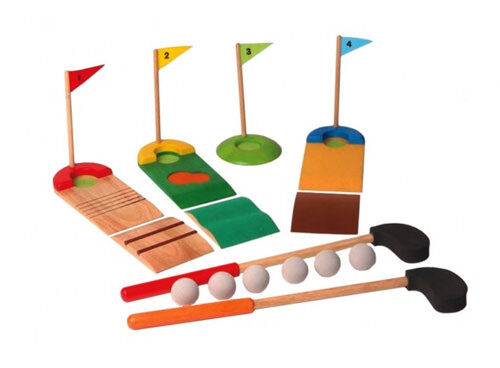 Voila wooden toy mini golf set