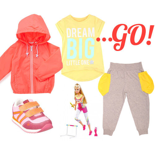 Girls' sporty Olympics outfit