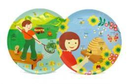 Jane Jenni Malamine Plates for children