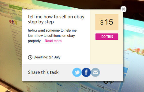 Airtasker: find someone to help you sell your stuff on eBay