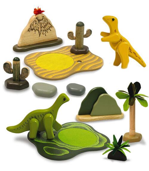 Dino Zone - wooden dinosaur play sets