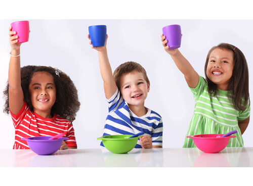 Giggle Australia silicone dinner sets / kids' tableware
