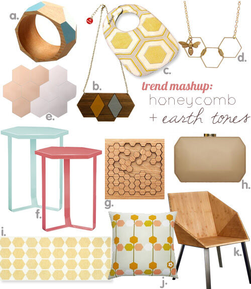 Trend mashup: honeycomb + earth tones