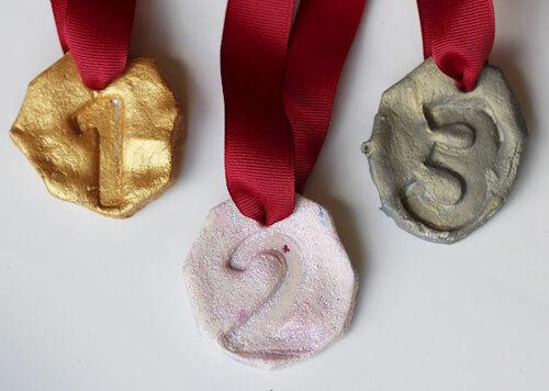 DIY salt dough Olympic medals