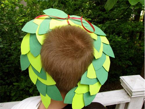 Make a simple Olympic laurel wreath