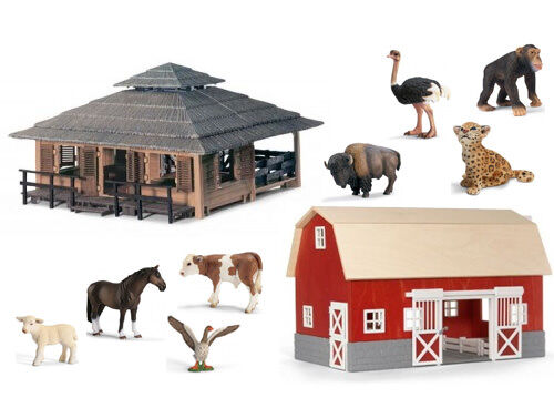 Schleich Wild Life Animal Nursery and Farm Life Barn