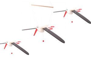 Bajo wooden stork mobiles