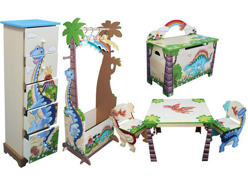 Teamson dinosaur themed furniture