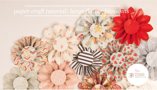Love Mae flower paper craft tutorial