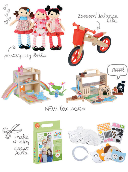 NEW Tiger Tribe toys, play sets and craft kits