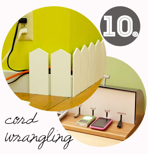 Decorating tips for renters: hiding cords