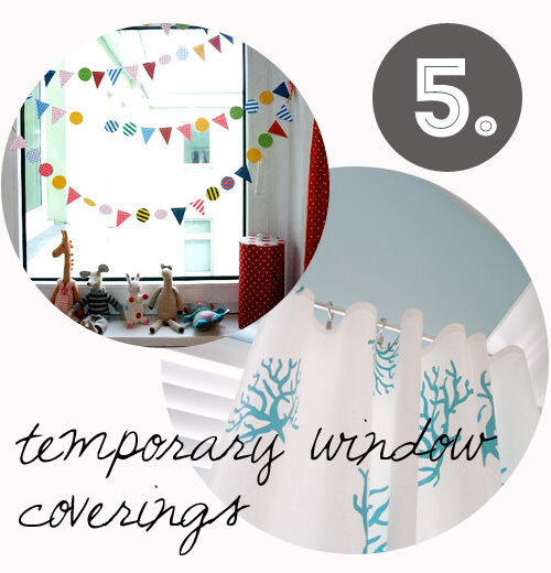 Decorating tips for renters: window coverings