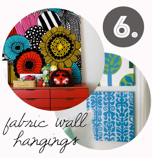 Decorating tips for renters: fabric covered canvas
