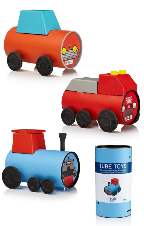 Tube Toys - packaging that becomes the toy