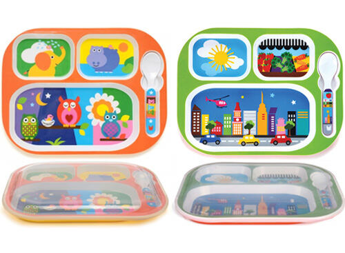 French Bull Everyday Tray - kids' meal tray with lid
