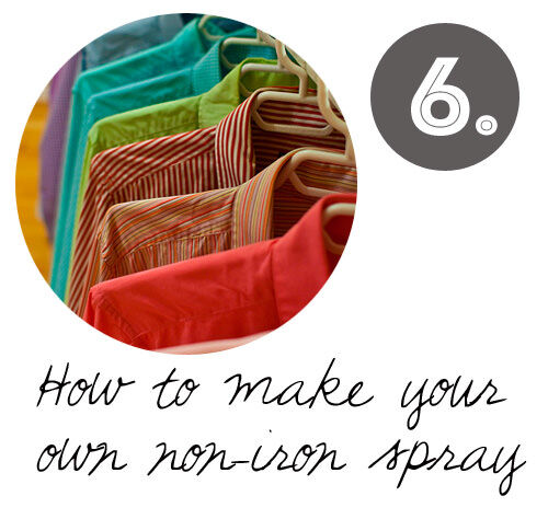 DIY cleaning tips: How to make your own non-iron wrinkle release spray